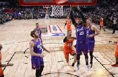 Wolves' Okogie, World fall to U.S. in RIsing Stars Challenge