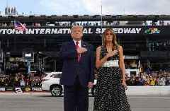 President Donald Trump attends 2020 Daytona 500 as Grand Marshal | FULL VIDEO
