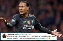 Virgil van Dijk sends Liverpool Champions League message after losing to Atletico Madrid