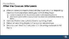 Nevada's caucus manual gives detailed instruction for using an iPad. See the slide deck here.