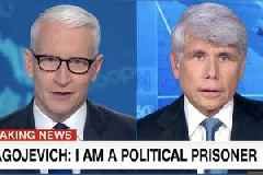 Anderson Cooper Calls 'Bulls–' on Rod Blagojevich for Saying He Was a 'Political Prisoner' (Video)