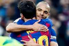 Martin Braithwaite not planning to wash kit after Lionel Messi hug during Barcelona win