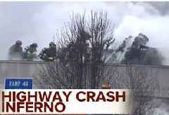 Tanker Truck Hauling 4,000 Gallons of Jet Fuel Crashes And Explodes on an Indiana Highway