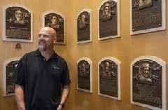 Walker bundle of nerves after touring Hall of Fame