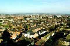 Photo taken 20 years ago showcases view of Derby from top of church tower
