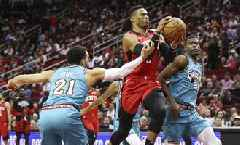 NBA News: Grizzlies Bullied by Rockets' 'Small Ball' Line-up, Westbrook and Harden Scores 63 Combined