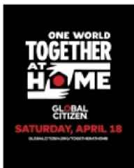 """ViacomCBS Networks to Air """"ONE WORLD: TOGETHER AT HOME,"""" a Global Special to Celebrate and Support Frontline Healthcare Workers in the Fight Against the COVID-19 Pandemic, on Saturday, April 18"""
