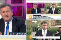 GMB: Piers Morgan blasts 'moron' cyclist during live interview