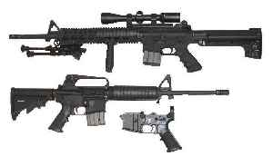 AR-15 style rifle: Lightweight automatic based on the Colt AR-15 design