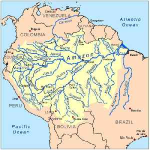 Amazon River: Longest river in South America