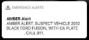 Amber alert: Child abduction alert system