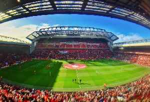 Anfield: Football stadium, home of Liverpool F.C.