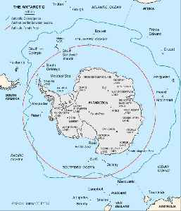 Antarctic: Region around the Earth's South Pole