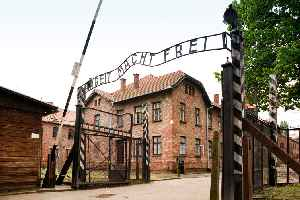Auschwitz concentration camp: German network of concentration and extermination camps in occupied Poland during World War II