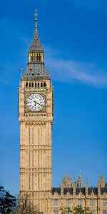 Big Ben: Bell within the clock tower at the Palace of Westminster in London, England