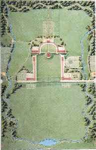 Campus: Land on which a college or university and related institutional buildings are situated