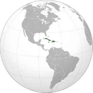 Caribbean: Region to the center-east of America composed of many islands and of coastal regions of continental countries surrounding the Caribbean Sea