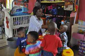 Child care: Action or skill of looking after children by a day-care center, babysitter, or other providers