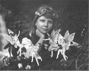 Cottingley Fairies: Faked photographs of fairies by Elsie Wright and Frances Griffiths