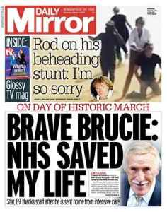 Daily Mirror: British daily tabloid newspaper owned by Reach plc.
