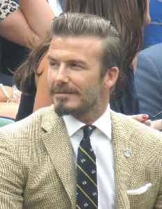 David Beckham: English association football player and model