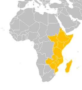 East Africa: Eastern region of the African continent