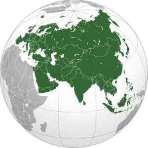 Eurasia: The combined continental landmass of Europe and Asia