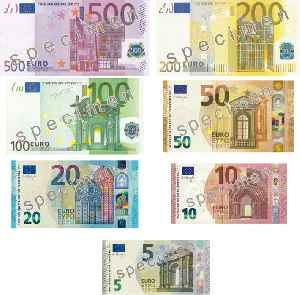 Euro: Currency of most countries in the European Union