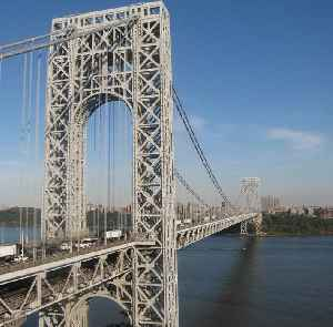 George Washington Bridge: Suspension bridge crossing the Hudson River between Fort Lee, New Jersey and Manhattan, New York