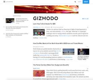 Gizmodo: Design, technology, science, and science fiction website and blog