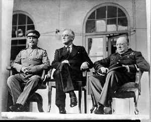 Grand Alliance (World War II): Alliance between, U.S, U.K., and Soviet Union against Nazi Germany during World War II