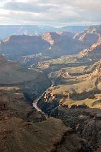 Grand Canyon: A steep-sided canyon carved by the Colorado River in Arizona, United States
