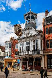 Guildford: County town of Surrey in England