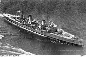 HMAS Perth (D29): 1936-1942 modified Leander-class light cruiser of the Royal and Royal Australian Navies
