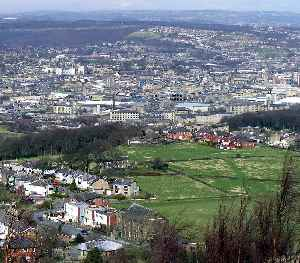 Huddersfield: Town in West Yorkshire, England