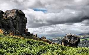 Ilkley Moor: Moorland in West Yorkshire, England