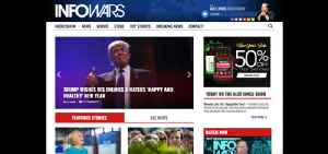 InfoWars: American far-right conspiracy theory and fake news website