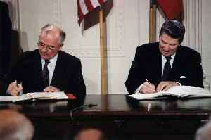 Intermediate-Range Nuclear Forces Treaty: Expired agreement between the USA and USSR (later Russia) on nuclear arms control