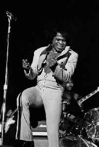 James Brown: American singer, songwriter, producer and bandleader from South Carolina