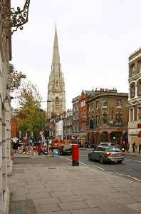 Kensington: District within the Royal Borough of Kensington and Chelsea in central London
