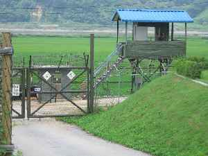 Korean Demilitarized Zone: Demilitarized zone running across the Korean Peninsula