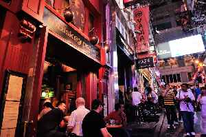 Lan Kwai Fong: Small square of streets in Central, Hong Kong