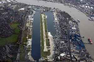 London City Airport: International airport in London, England