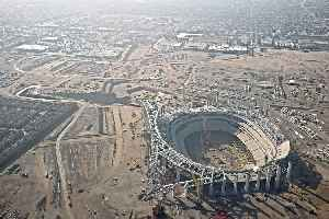 Los Angeles Stadium at Hollywood Park: NFL stadium under construction in the LA area