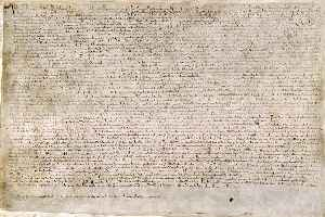Magna Carta: Charter of rights agreed to by King John of England in 1215