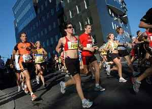 Marathon: Long-distance running event with an official distance of 42.195 kilometres