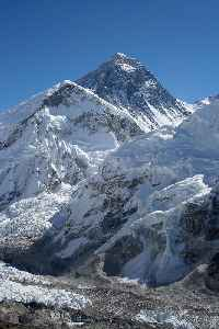 Mount Everest: Earth's highest mountain, part of the Himalaya between Nepal and China