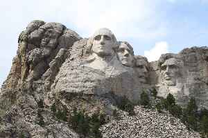 Mount Rushmore: Mountain in South Dakota featuring a sculpture of four US presidents