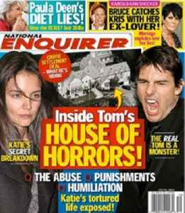 National Enquirer: American supermarket tabloid published by American Media, Inc.