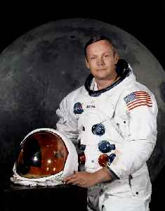 Neil Armstrong: American astronaut; first person to walk on the moon